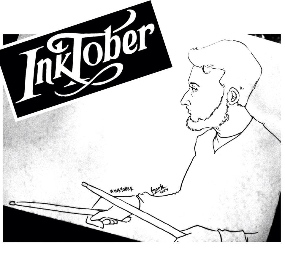 #Inktober 2014 [5]: Me sticking.